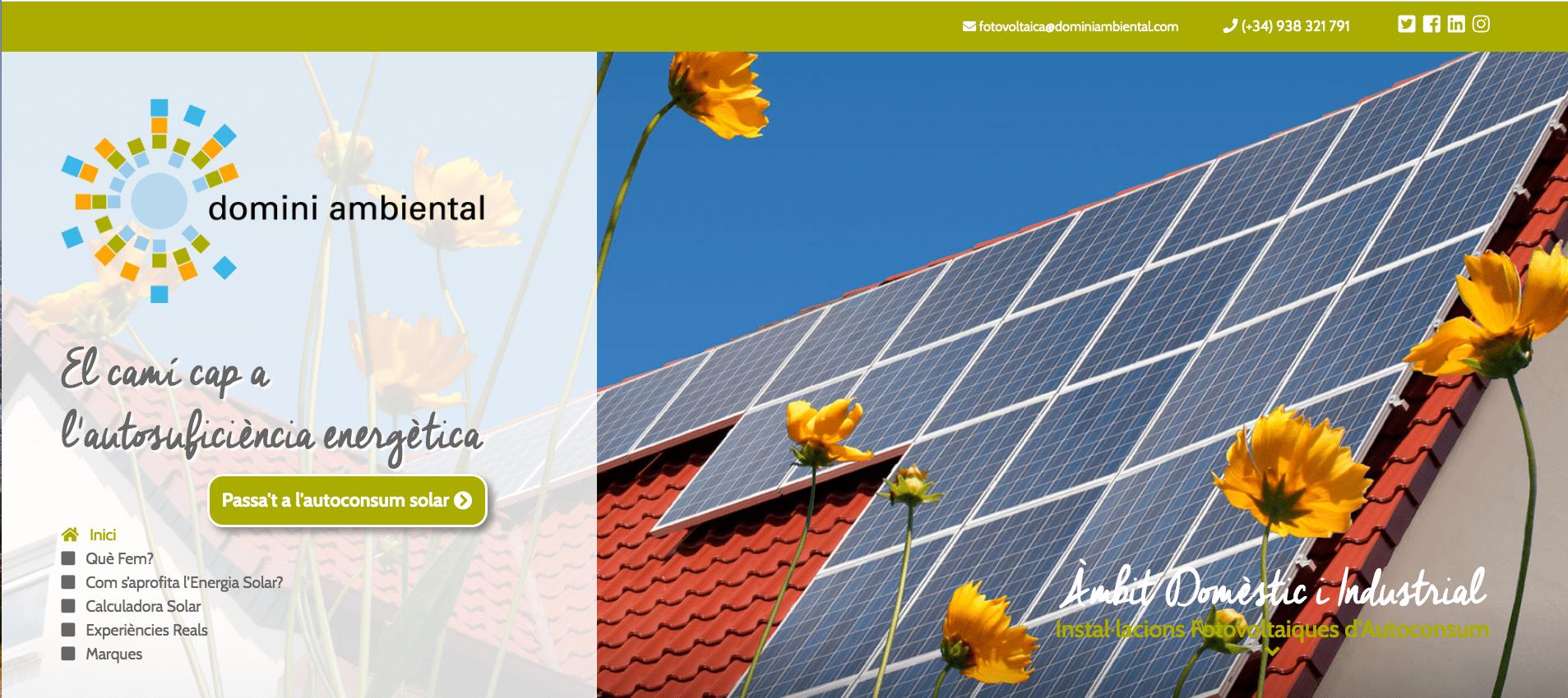 Domini Ambiental ja té la seva nova pàgina web